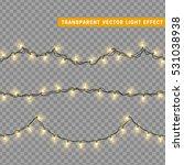 christmas lights isolated... | Shutterstock .eps vector #531038938
