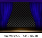 vector blue curtains in theater ... | Shutterstock .eps vector #531043258