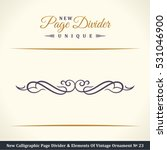 new calligraphic page divider... | Shutterstock .eps vector #531046900