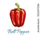 pepper vegetable icon. bell... | Shutterstock .eps vector #531047206
