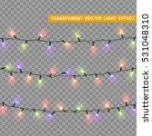 christmas lights isolated... | Shutterstock .eps vector #531048310