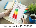 energy efficiency concept with... | Shutterstock . vector #531052960