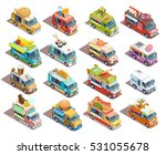 street food trucks models... | Shutterstock .eps vector #531055678