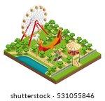 amusement park isometric... | Shutterstock .eps vector #531055846