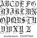 gothic  font   vector | Shutterstock .eps vector #531057064