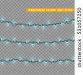 christmas lights isolated... | Shutterstock .eps vector #531057250