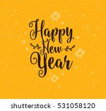 happy new year 2017 text design.... | Shutterstock .eps vector #531058120