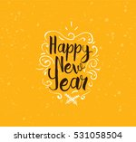 happy new year 2017 text design.... | Shutterstock .eps vector #531058504