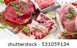 different types of raw meat... | Shutterstock . vector #531059134
