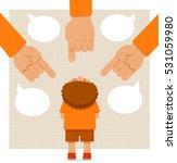 little boy standing under big...   Shutterstock .eps vector #531059980