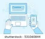 vector flat linear illustration ... | Shutterstock .eps vector #531060844