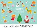 christmas pattern  adorable... | Shutterstock .eps vector #531062410