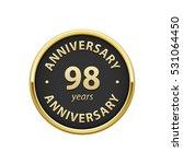 anniversary 98 years badge    Shutterstock .eps vector #531064450