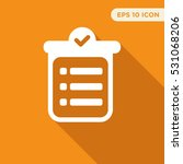 to do list vector icon  notes... | Shutterstock .eps vector #531068206