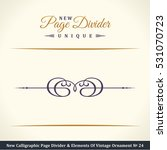 new calligraphic page divider... | Shutterstock .eps vector #531070723