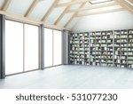 creative loft library interior... | Shutterstock . vector #531077230