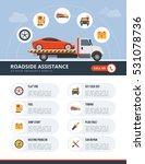 roadside assistance infographic ... | Shutterstock .eps vector #531078736