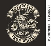 motorcycle typography  t shirt... | Shutterstock .eps vector #531080734