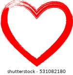 set of hearts . grunge stamps... | Shutterstock .eps vector #531082180