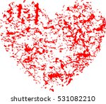 set of hearts . grunge stamps... | Shutterstock .eps vector #531082210