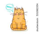 cute red cat on white... | Shutterstock .eps vector #531082354