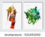 flyer layout template. vector...   Shutterstock .eps vector #531092050