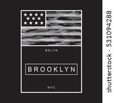brooklyn america flag... | Shutterstock .eps vector #531094288