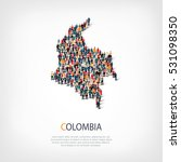 people map country colombia... | Shutterstock .eps vector #531098350