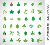leaf icons set  vector... | Shutterstock .eps vector #531099700