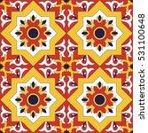 spanish tile pattern vector...   Shutterstock .eps vector #531100648