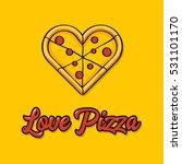 vector illustration of a love... | Shutterstock .eps vector #531101170