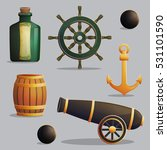 collection of pirate items for...