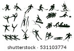 set of winter sport icon vector ... | Shutterstock .eps vector #531103774