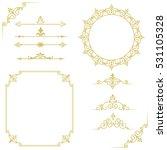 set of vintage elements. frames ... | Shutterstock .eps vector #531105328