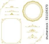set of vintage elements. frames ... | Shutterstock .eps vector #531105370
