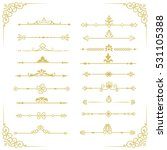 set of vector decorative... | Shutterstock .eps vector #531105388