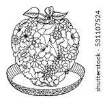 vector illustration zentagl ... | Shutterstock .eps vector #531107524