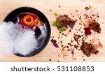 molecular cuisine. delicious...   Shutterstock . vector #531108853