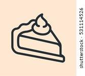 pie cake slice piece minimal...   Shutterstock .eps vector #531114526