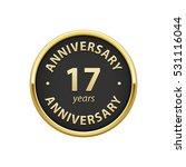 anniversary 17 years badge   | Shutterstock .eps vector #531116044
