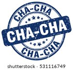 cha cha. stamp. blue round... | Shutterstock .eps vector #531116749