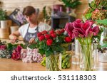 small business. male florist... | Shutterstock . vector #531118303
