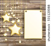 golden stars with hanging board ... | Shutterstock .eps vector #531120088