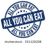 all you can eat. stamp. blue...   Shutterstock .eps vector #531120208