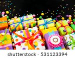 colored gift boxes with... | Shutterstock . vector #531123394