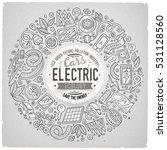 line art vector hand drawn set... | Shutterstock .eps vector #531128560
