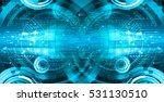 future technology  blue cyber... | Shutterstock . vector #531130510