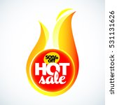 hot sale banner. this weekend...   Shutterstock .eps vector #531131626