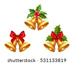 set of vector gold christmas... | Shutterstock .eps vector #531133819