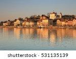 Town of Nyon at sunrise - Lake Geneva, Western Switzerland